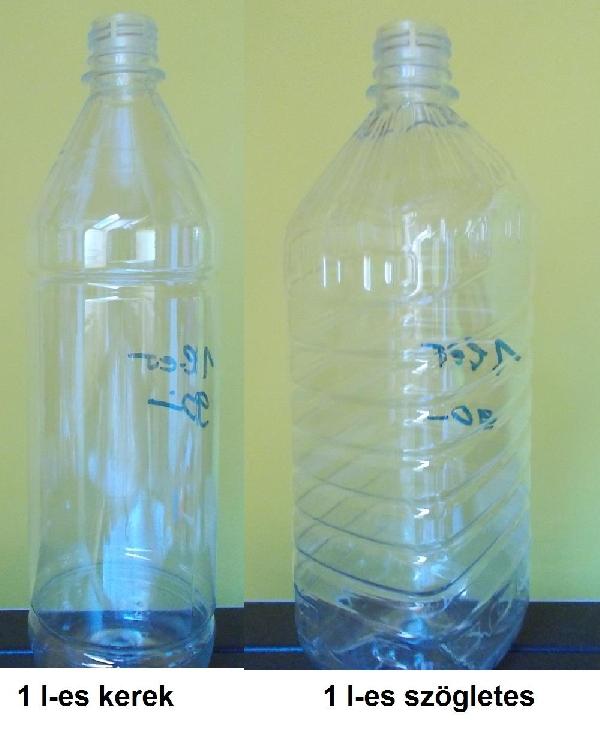 Etetőflakon ,1 l-es keményfalú  flakon kupakkal (itatóflakon)