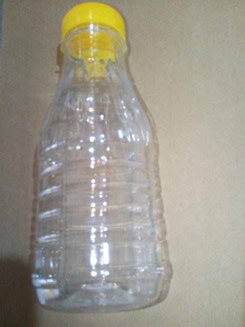 3 dl-es PET flakon citromsárga  kupakkal (38 mm-es száj)